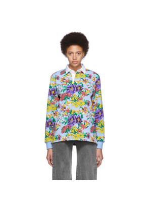 Noah NYC Multicolor Floral Rugby Polo