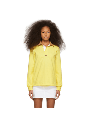 Noah NYC Yellow Corduroy Collar Rugby Polo