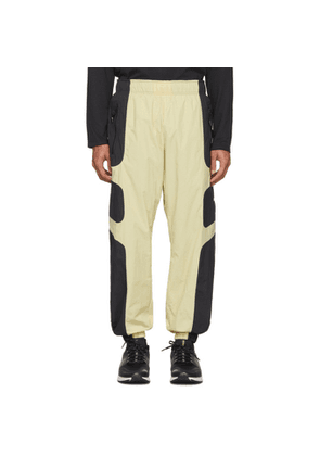 Nike Beige and Black NSW Re-Issue Track Pants