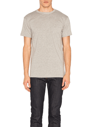 3sixteen Heavyweight Pocket Tee 2 Pack in Gray. Size S,XL.