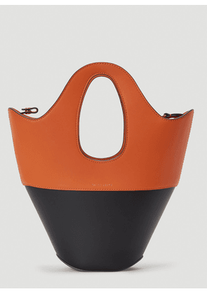 Danse Lente Two-Tone Leather Tote Bag in Brown size One Size