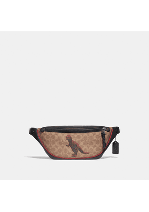 Coach Rivington Belt Bag In Signature Canvas With Rexy By Sui Jianguo