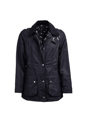 Barbour Womens Monteviot Waxed Cotton Jacket Royal Navy / Dragonfly