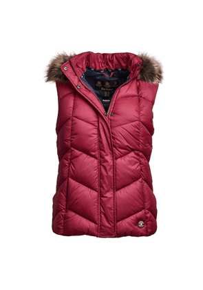 Barbour Womens Downhall Gilet Deep Pink