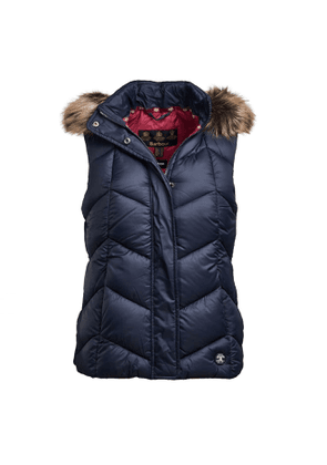 Barbour Womens Downhall Gilet Navy / Deep Pink