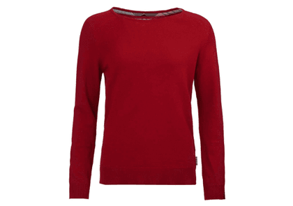 Barbour Womens Pendle Crew Knitwear Chilli Red