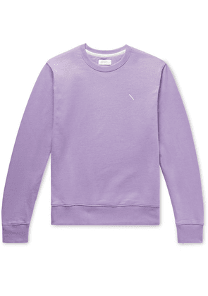 Saturdays NYC - Bowery Logo-embroidered Loopback Cotton-jersey Sweatshirt - Lavender