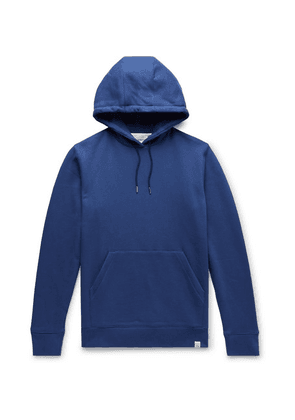 Norse Projects - Vagn Loopback Cotton-jersey Hoodie - Blue