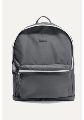 Paravel - Fold-up Leather And Grosgrain-trimmed Shell Backpack - Anthracite