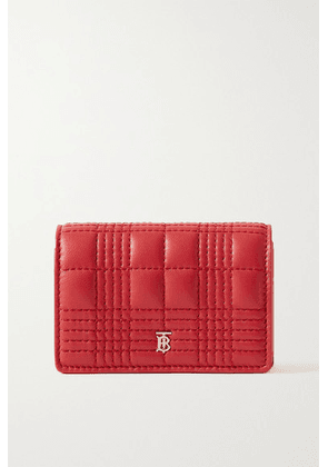 Burberry - Quilted Leather Cardholder - Red