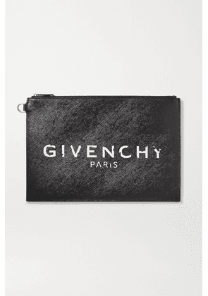 Givenchy - Medium Printed Coated-canvas Pouch - Black