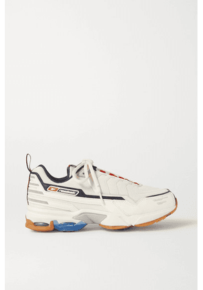 Reebok - Dmx6 Mmi Mesh, Leather And Nubuck Sneakers - Off-white
