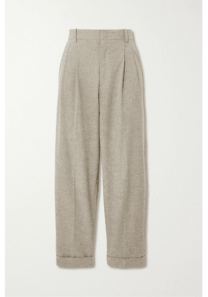 Isabel Marant Étoile - Lowea Checked Cotton And Linen-blend Tapered Pants - Pastel yellow