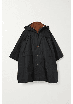 Burberry - Oversized Hooded Shell Poncho - Black