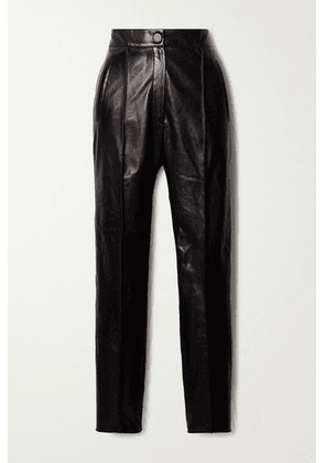 Petar Petrov - Hogan Leather Straight-leg Pants - Black