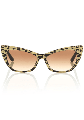 Leopard-print cat-eye sunglasses