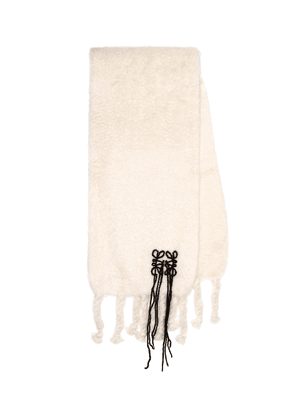 Mohair and wool-blend scarf