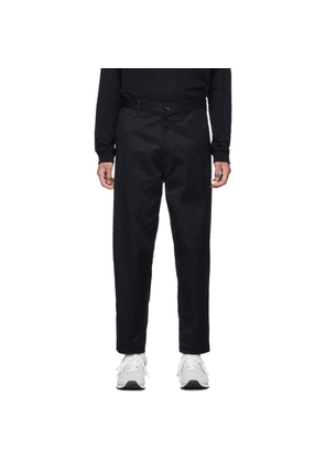 Comme des Garcons Homme Navy Cotton Twill Trousers