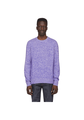 A.P.C. Blue and White Wool Marcus Sweatshirt