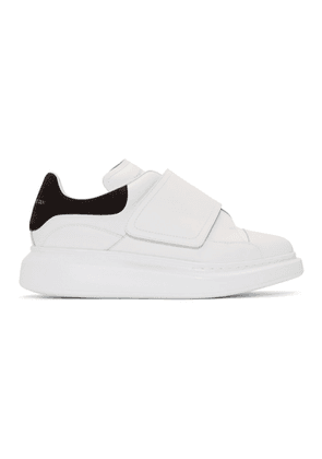 Alexander McQueen White and Black Flap Tab Oversized Sneakers