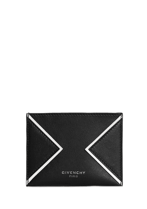 Logo Credit Leather Card Holder