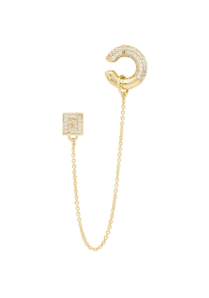 Fendi Gold FendiOops Earring