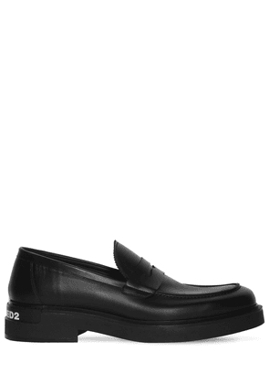 40mm Logo Leather Loafers