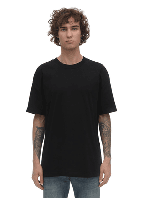 Oversize Cotton T-shirt W/ Stitching