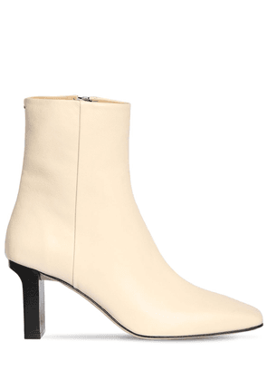 75mm Billy Leather Ankle Boots