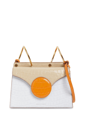 Mini Phoebe Embossed Coco Leather Bag