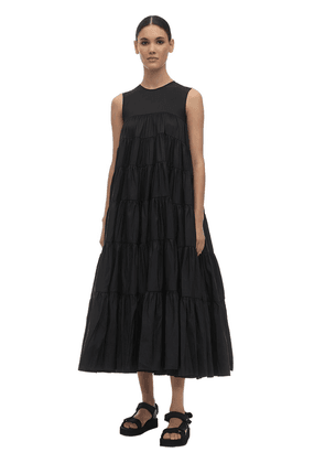 Ruffled Faille Maxi Dress