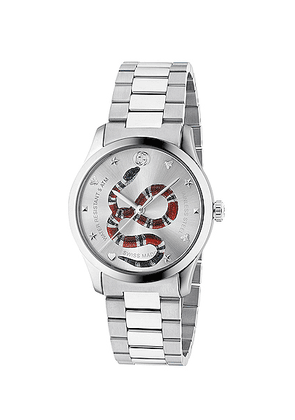 Gucci 38MM G-Timeless Snake Bracelet Watch in Silver - Metallics. Size all.