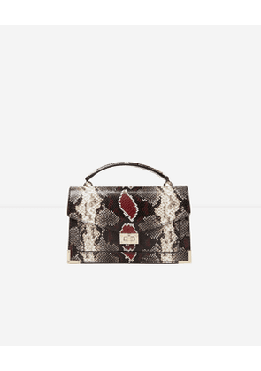 The Kooples - Medium-size grey and red python Emily bag - WOMEN