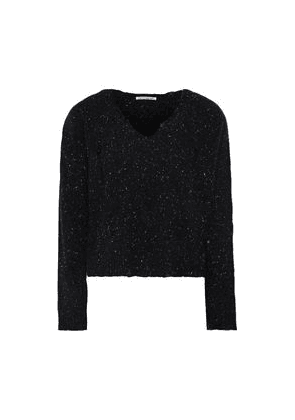 Autumn Cashmere Distressed Donegal Cashmere Sweater Woman Black Size XS