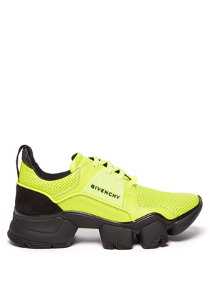 Givenchy - Jaw Raised-sole Perforated-leather Trainers - Mens - Yellow
