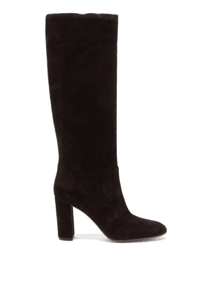 Gianvito Rossi - Slouch 85 Knee-high Suede Boots - Womens - Black