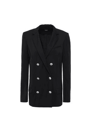 Versus Versace Double-breasted Wool-blend Twill Blazer Woman Black Size 40