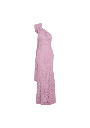 Zac Zac Posen Flora One-shoulder Bow-embellished Corded Lace Gown Woman Pink Size 2