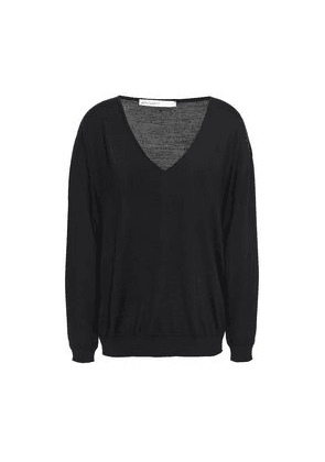 Gentryportofino Mélange Wool, Silk And Cashmere-blend Sweater Woman Black Size 40