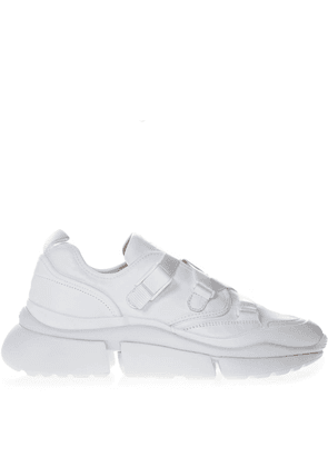 Sonnie White Leather & Suede Sneakers