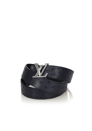 Ostrich Leather Initiales Belt