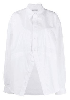 White Women's Deconstructed Over-Sized Shirt