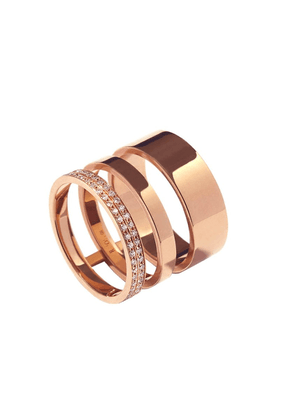 Gold Women's Gold Ring 3 Rows