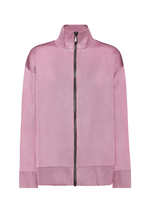 Wool and silk-blend jersey jacket