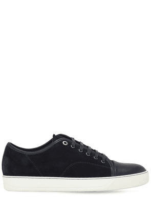 Leather & Suede Low Top Sneakers