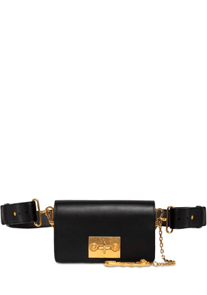 Leather Cross Body Bag W/safety Pin