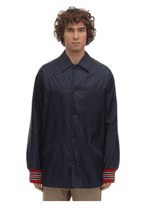 Gg Nylon Jacquard Casual Jacket