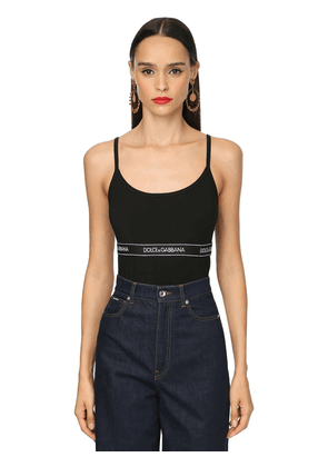 Logo Band Cotton Jersey Camisole Top
