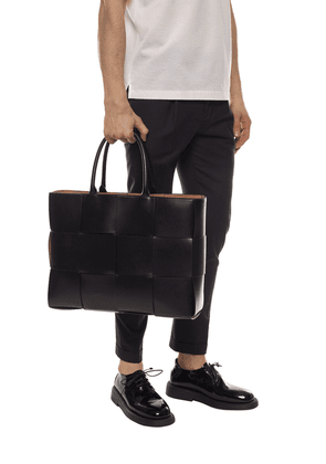 Bottega Veneta Intrecciato Tote Men's Black