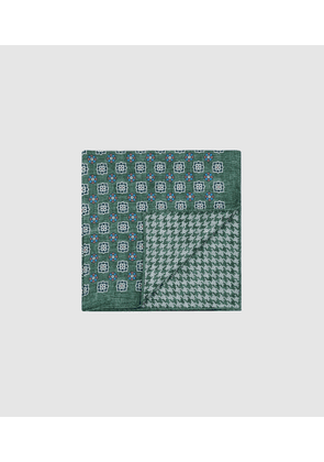 Reiss Veratti - Double Sided Silk Pocket Square in Green, Mens